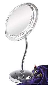 Light 7X Magnification S Neck Lighted Vanity Makeup Mirror SL47