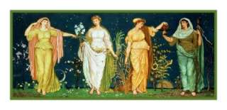 The Seasons by Walter Crane Table Runner Counted Cross Stitch Chart