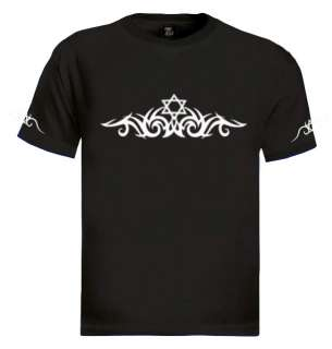 Tribal Star Of David T Shirt tattoo art designs