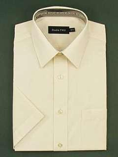 Sale  Men  Shirts  Double TWO Classic plain short sleeve shirt