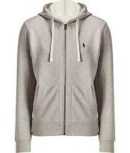Veste à capuche gris chiné Heather Classic par POLO RALPH LAUREN on ... 237ae3e3ef2