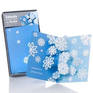MoMA Design Store Swirling Snowflakes Set of 8 Pop Up Cards