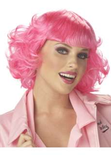 Adult Fuchsia Pink Frenchie Grease Wig, a 50s Costume at Wholesale