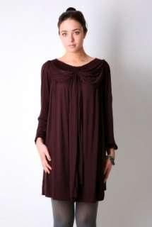 Plum Ylsa Ruched Jersey Dress By Malene Birger   Purple   Buy Dresses