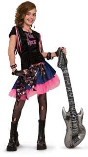 Pink Rock Girl Child Costume   Includes dress. Does not include boots
