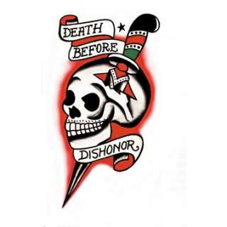 Death Before Dishonor Skull Vintage Tattoo   Military Costume