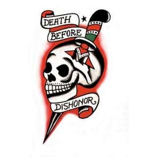 Death Before Dishonor Skull Vintage Tattoo   Military Costume