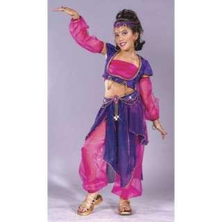 Arabian night costume a festive and colorful young girls arabian