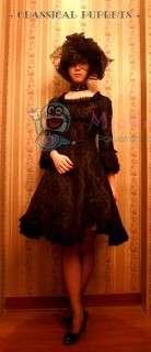 Square Collar Chiffon Gothic Lolita Dress For Sale at Miccostumes