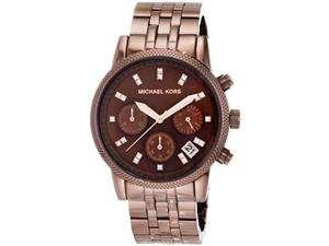Michael Kors Ritz Chronograph Brown Ladies Watch MK5547