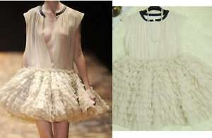 Runway Tiered Ruffle Tutu Tulle Cocktail Party Dress