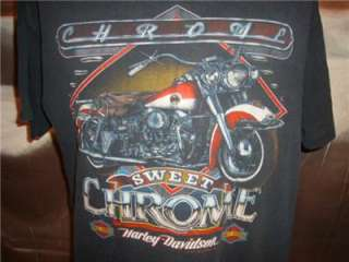 THIN HARLEY DAVIDSON MOTORCYCLE BIKER TRUCKER T SHIRT VTG 90S 1991