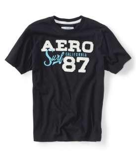 aeropostale mens aero 87 surf graphic t shirt |