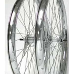 24x2.125, Front, Bolt On, Chrome, Steel, Wheel