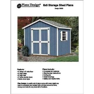 8 X 8Gable Storage Shed Floor Plans  Design #10808