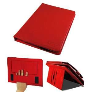 Red Case for Acer Iconia Tab A200 with Elastic Hand Strap and Stand