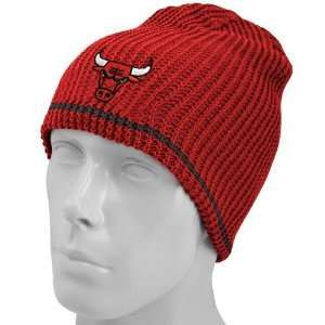 adidas Chicago Bulls Red Black Striped Reversible Knit