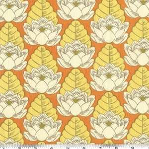 Wide Amy Butler Lotus Pond Tangerine Fabric By The Yard amy_butler