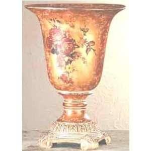 Porcelain Antique Finish Rose Vase