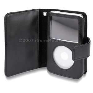 Premium Leather Flip Case for Apple Ipod Video 30gb 60gb