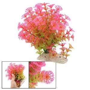 Como Aquarium Fish Tank Ornament Water Plant Hot Pink
