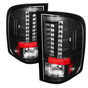 Black LED Tail Lights (With Two Reverse Socket 921 Bulb): Automotive
