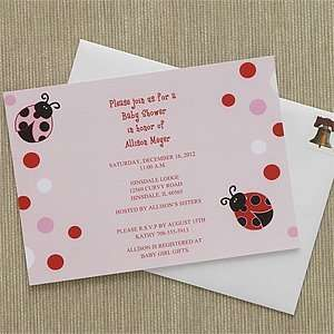 Personalized Baby Shower Invitations   Love Bug Health