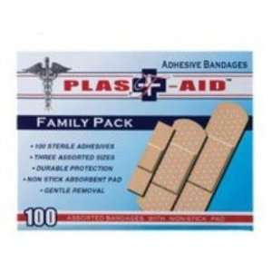 Plast Aid Family Pack Adhesive Bandages Case Pack 144