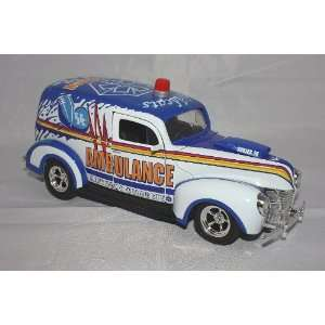 Edition 1940 Ford Street Rod Ambulance Diecast Bank