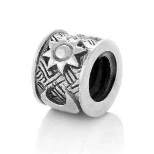 Sterling Silver Moon & Sun Bead Charm Fits Pandora Bracelet Jewelry