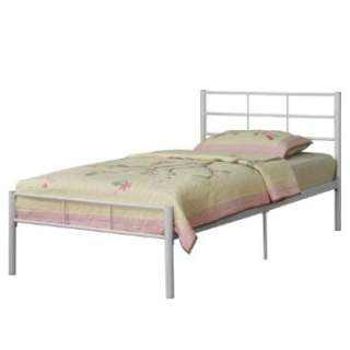 Twin Bed Frame   White by Walker Edison