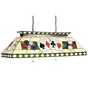 Themed Stained Glass Pool Table Light