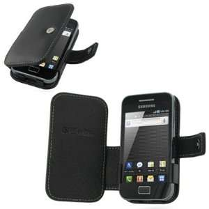 Pdair Black Leather Book Carry Case Cover + belt clip for