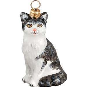 Ornament by Joy to the World Collectibles   Black & White Shorthair