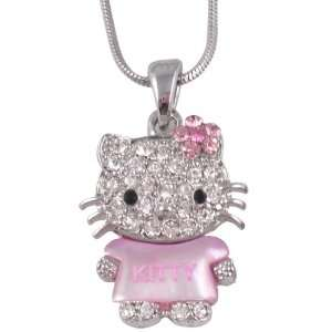 Pendant and Necklace with Pink Crystal Bow   Comes Gift Boxed: Jewelry