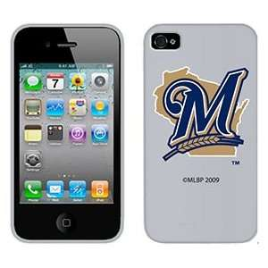 Milwaukee Brewers M in Blue on AT&T iPhone 4 Case by