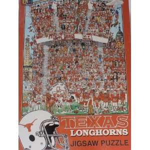 Texas Longhorns Jigsaw Puzzle by John Holladay (513 Pieces