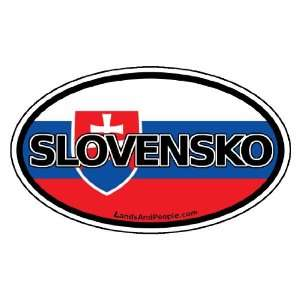 in Slovak and Slovakian Flag Car Bumper Sticker Decal Oval Automotive