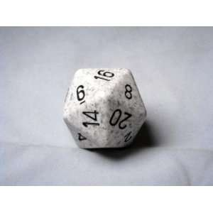 Special Dice Black/White Arctic Camo Speckled 34mm d20 Toys & Games