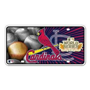 2011 National League Champions Metal Auto Tag