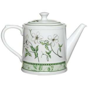 Royal Worcester Caf? Fleur 6 Cup Teapot and Cover Kitchen