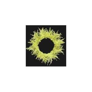Whimsical Yellow Laser Artificial Christmas Wreath 20