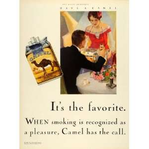 1928 Ad Reynolds Tobacco Co Camel Cigarette Girl Pack