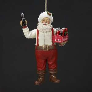 6 Santa Holding a Six Pack of Coca Cola Bottles Christmas
