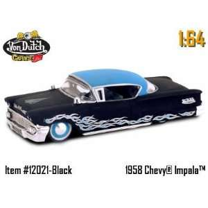 1:64 von Dutch Diecast Car   58 Chevy Impala Black: Toys & Games