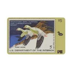 Collectible Phone Card Duck Hunting Permit Stamp Card #44 Void After