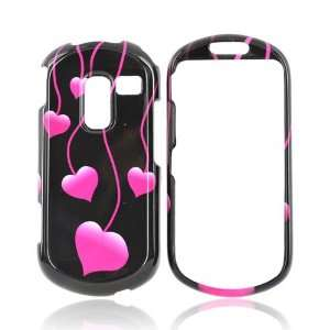 PINK HEART BLACK For Samsung Messager 3 Hard Cover Case Electronics