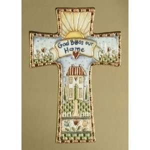 Religious God Bless Our Home Wall Crosses 6.5