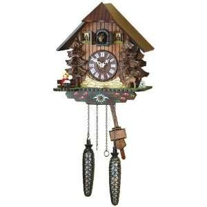 Quartz Cuckoo Clock Black forest house, deer, incl