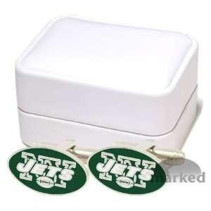 York Jets NFL Logod Executive Cufflinks w/Jewelry Box by Cuff Links